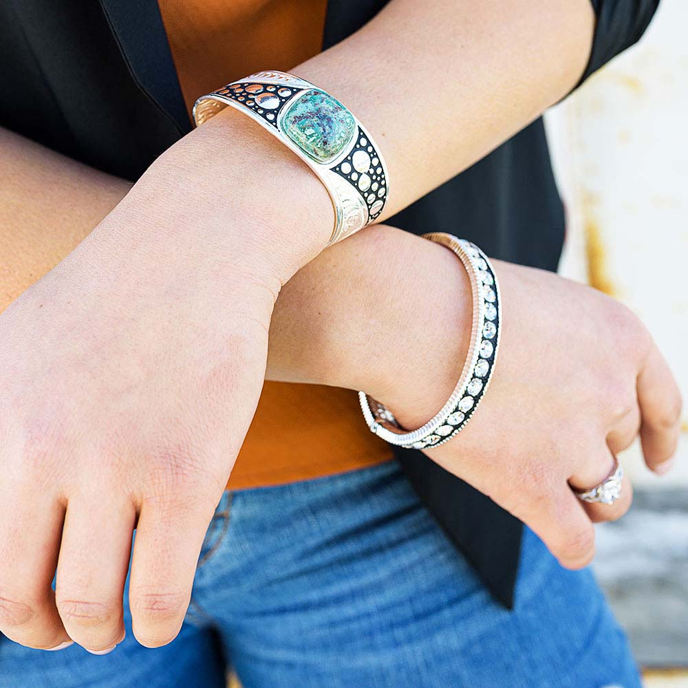 Make Some Waves Turquoise Cuff Bracelet
