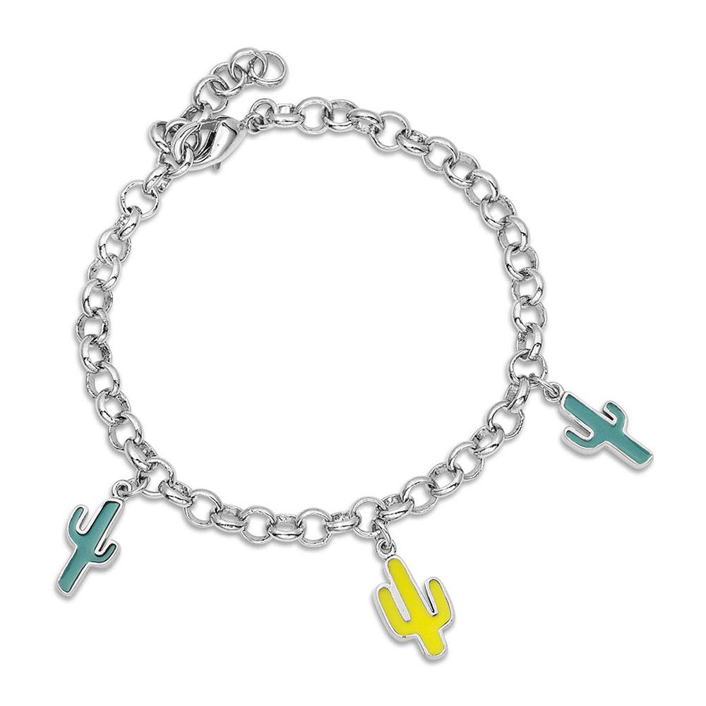 Pretty Prickly Cactus Charm Bracelet
