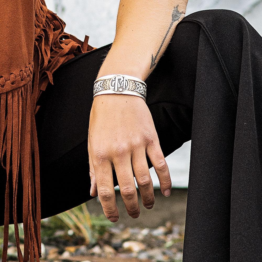Midnight Rendezvous Cactus Cuff Bracelet