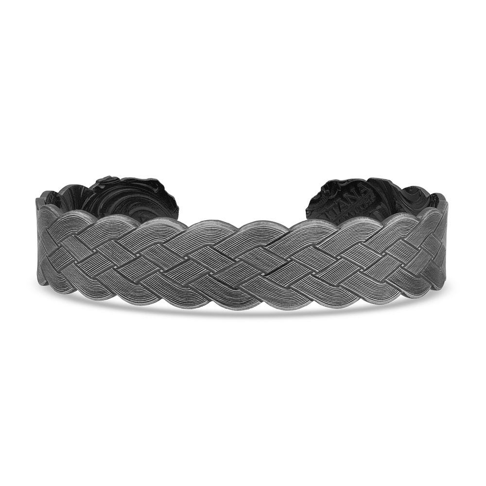 Flat Braid Bull Rope Cuff Bracelet
