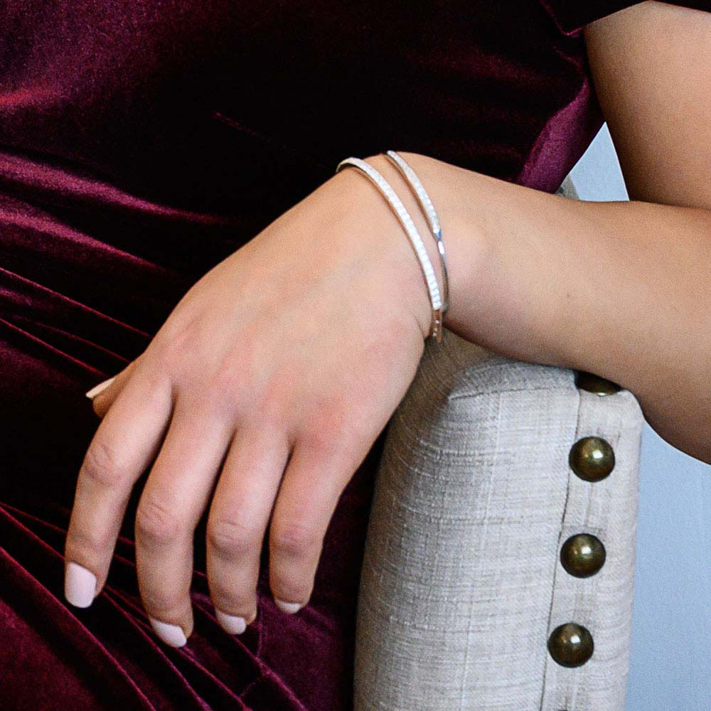 Hinged Tennis Bracelet