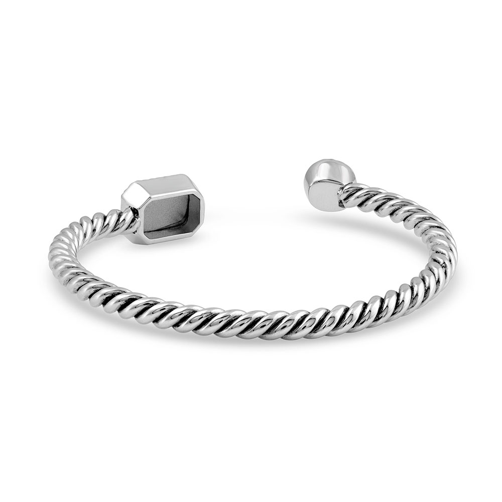 Roped Glamour Pearl Cuff Bracelet
