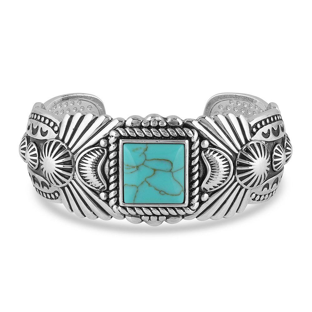 Flourished Turquoise Cuff Bracelet