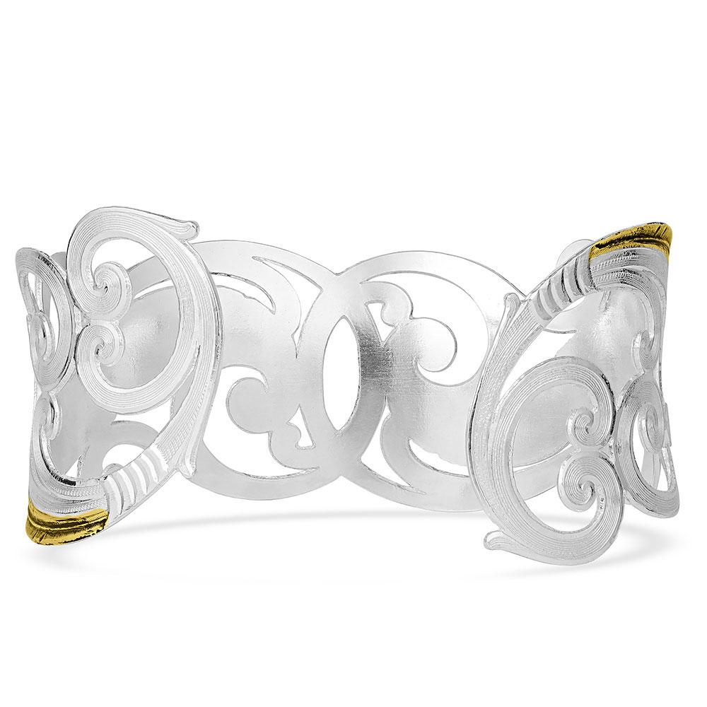 Sunfire Filigree Cuff Bracelet