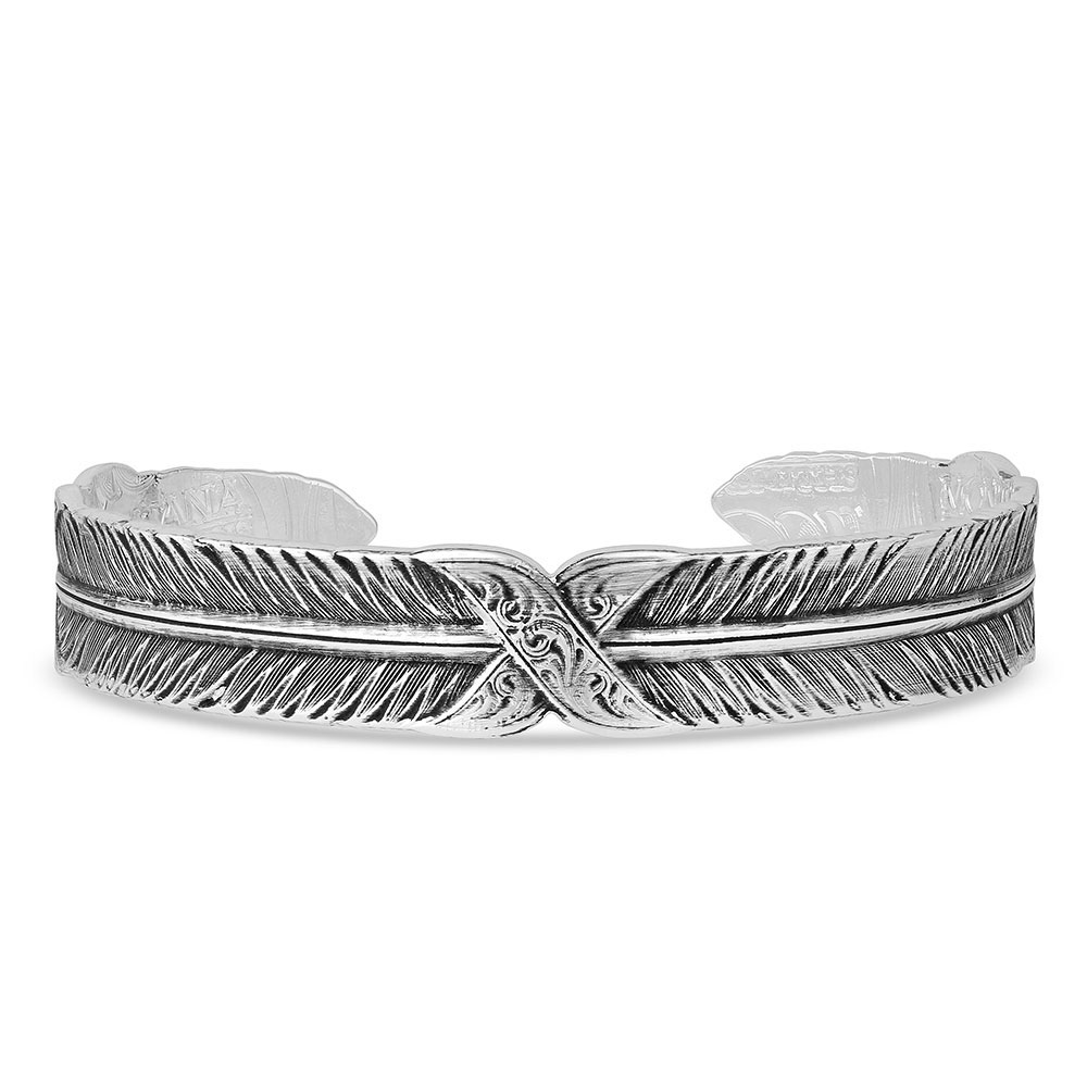 Strength Within Feather Cuff Bracelet