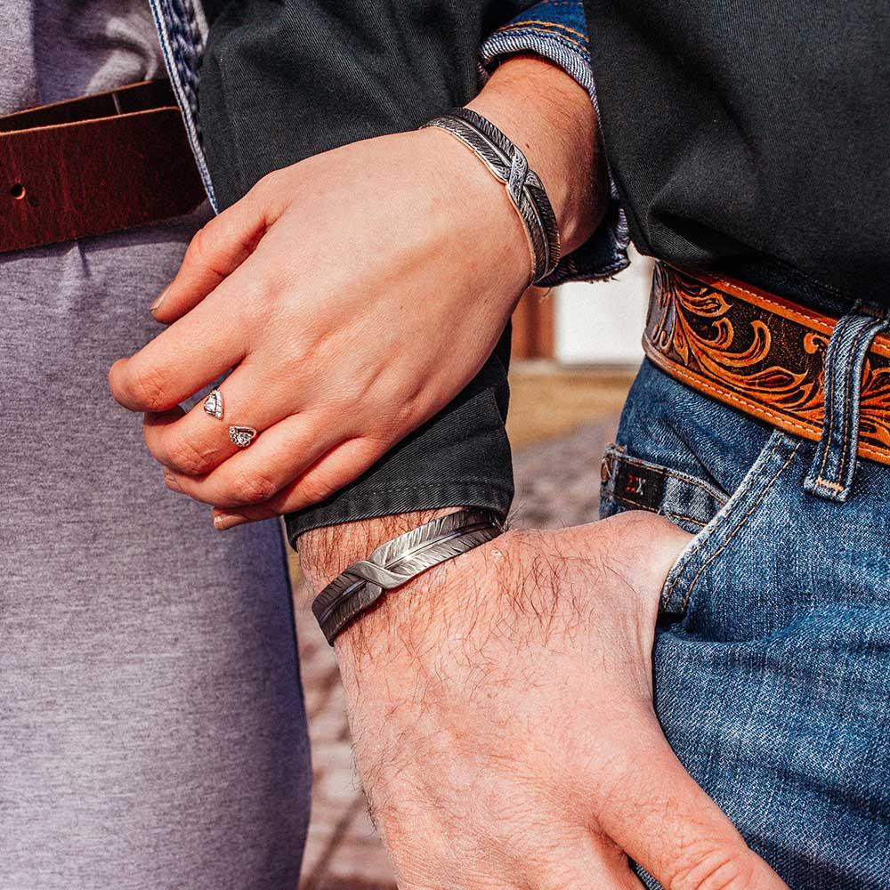 Bound & Strength Feather Cuff Bracelet