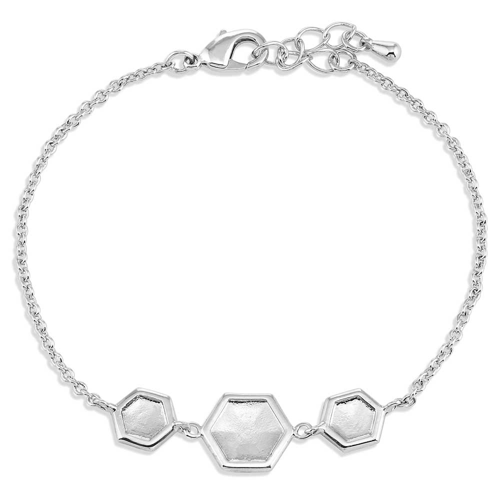 Charmed Chevron Silver Bracelet