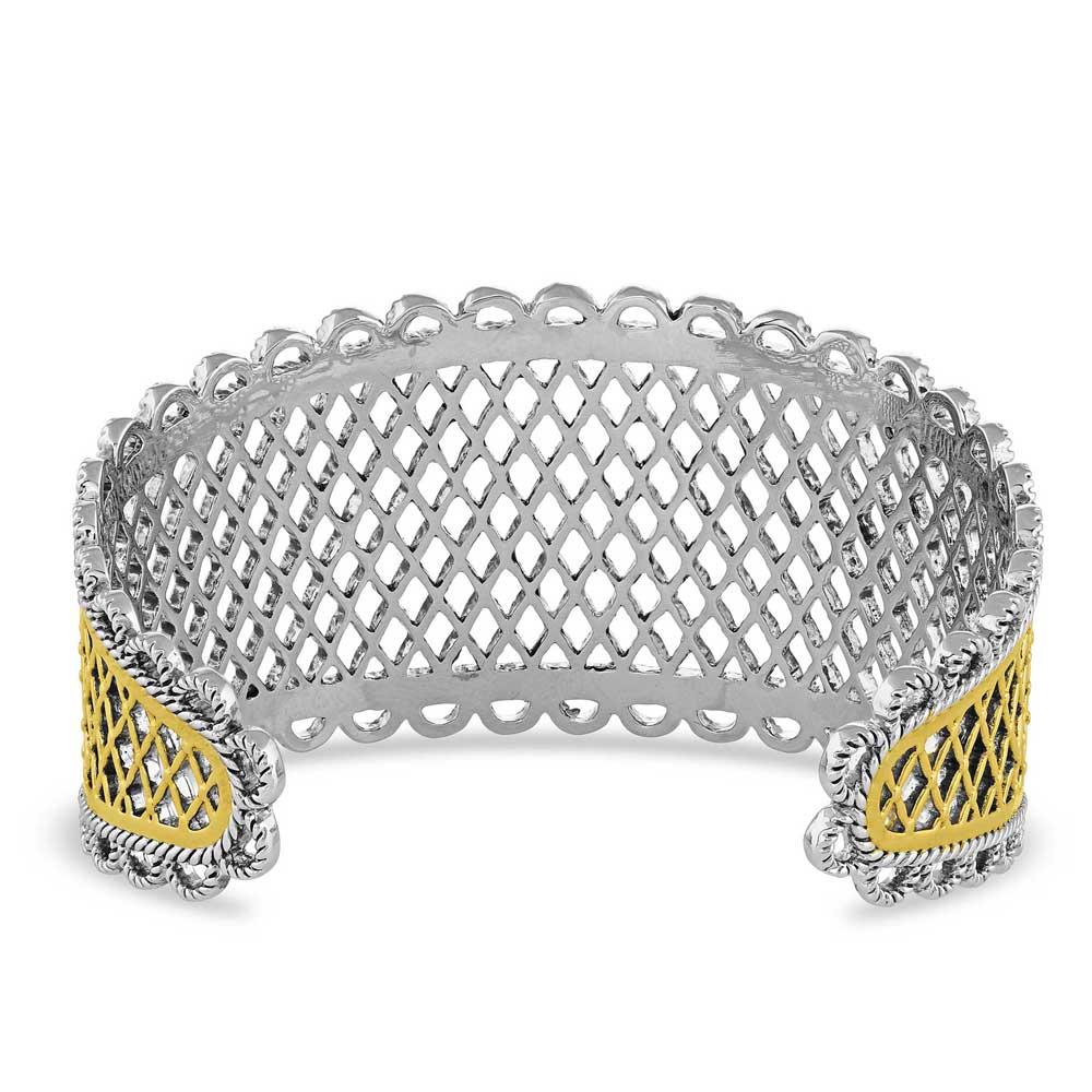 Honeycomb Western Lace Cuff Bracelet