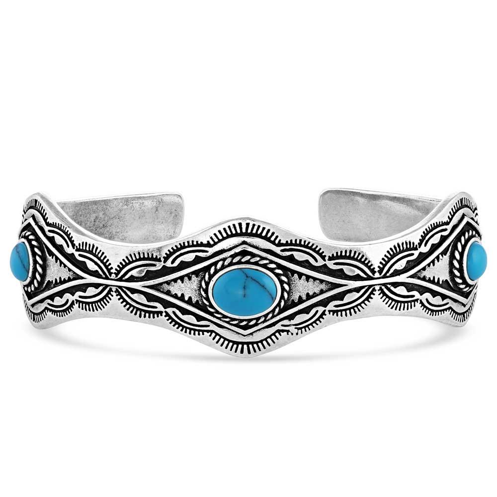 Seeing Eye Aztec Silver Cuff