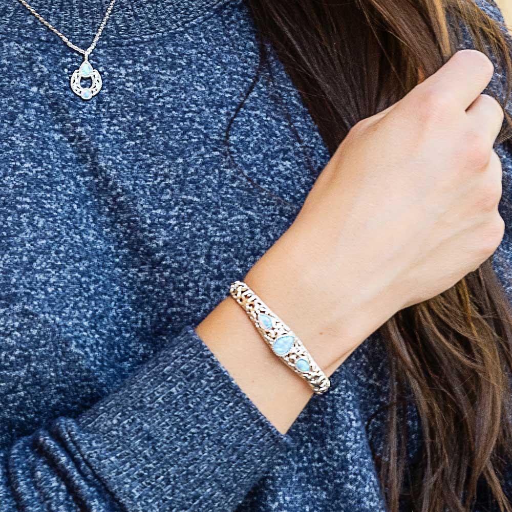 Crystal Pools Silver Cuff Bracelet