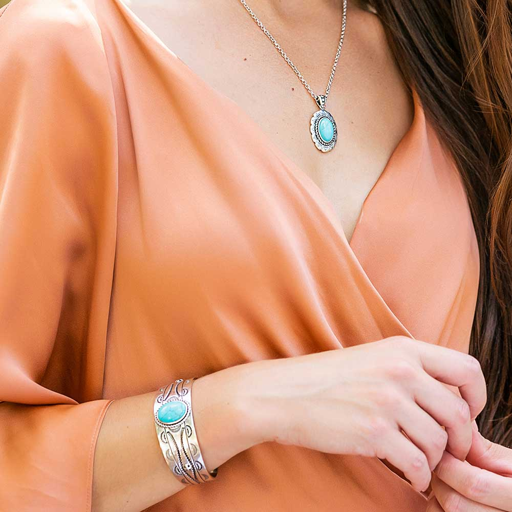 Into the Blue Turquoise Cuff Bracelet