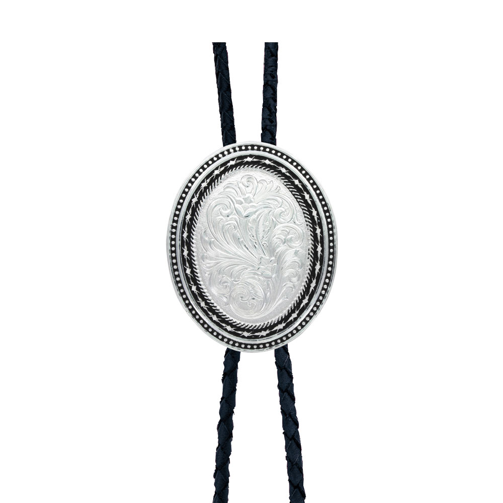 Custom New Traditions Stars and Barbed Wire Bailiwick Bolo Tie (1.71