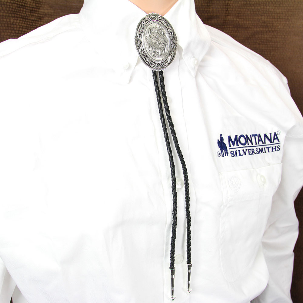 Southwestern Rancher's Bolo Tie in Antiqued Silver