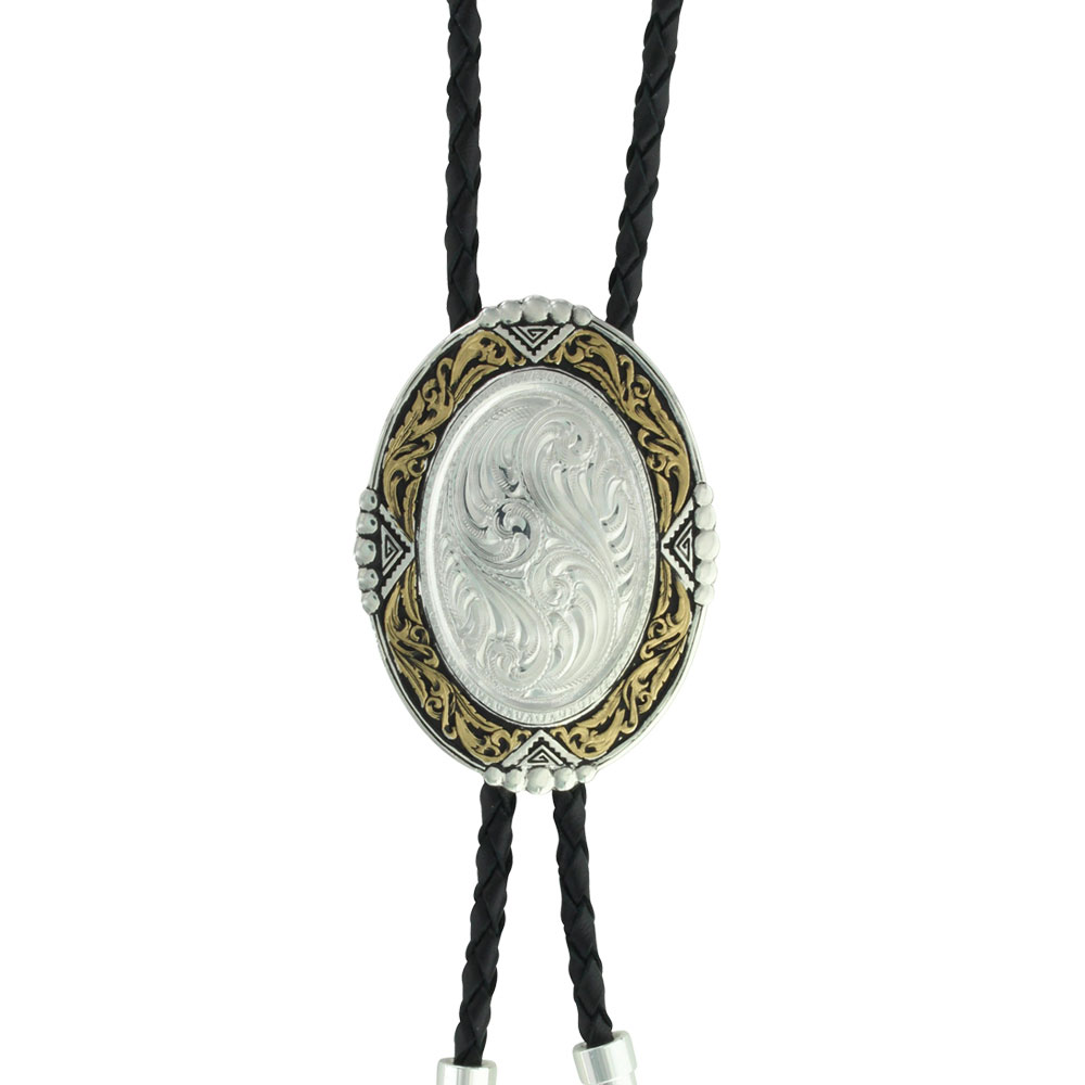 Custom Southwestern Rancher's Bolo Tie with Any Figure