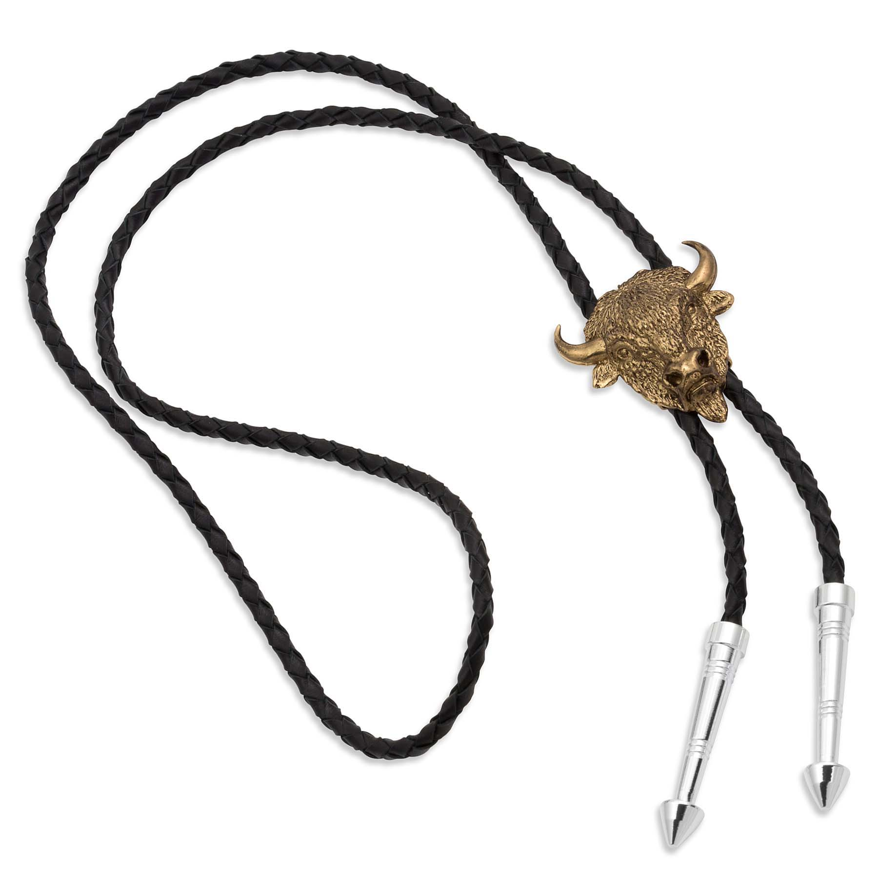 Master of the Plains Buffalo Head Bolo Tie