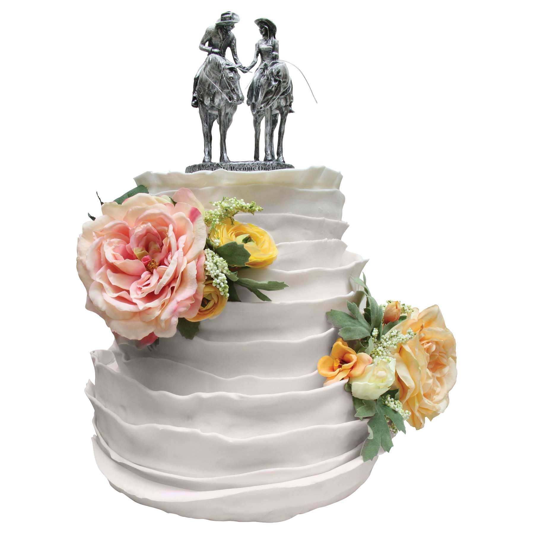 Two Trails Become One Cake Topper