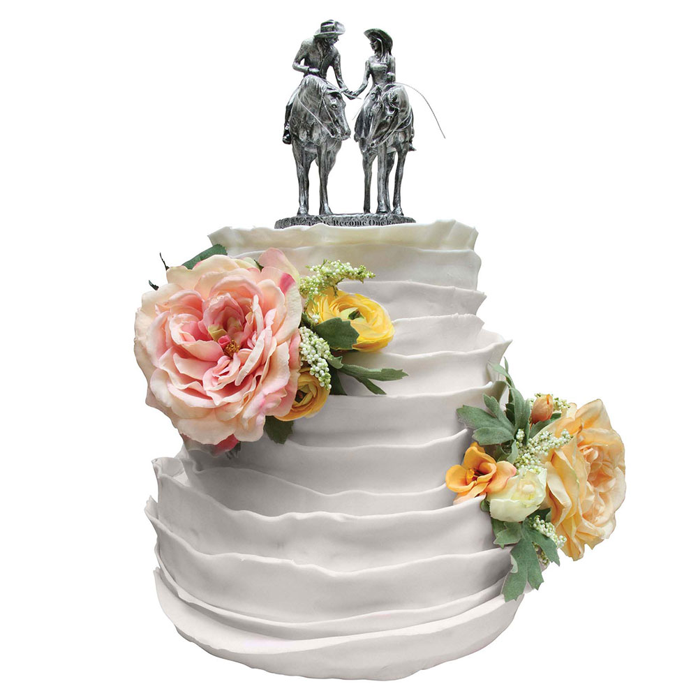 Two Trails Become One Cake Topper Montana Silversmiths