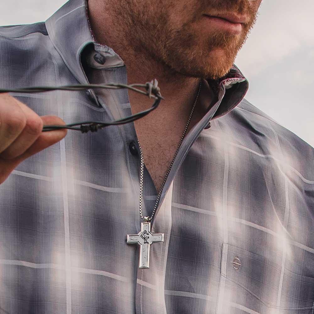 Combat Zone Chris Kyle Cross Necklace