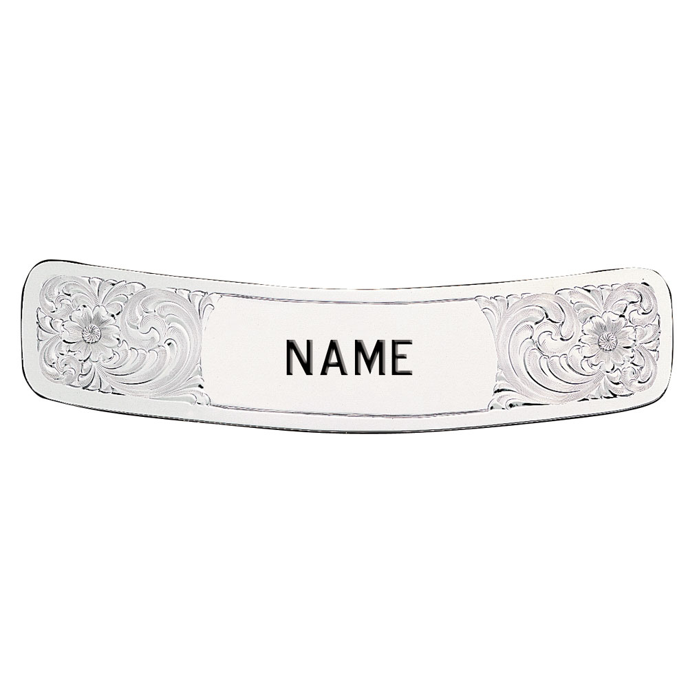 Cantle Plate with Custom Engraving 1 3/8 x 6 1/4 Inches