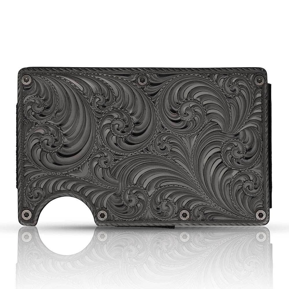 Custom Gunmetal Montana Credit Card & Cash Case (3.50
