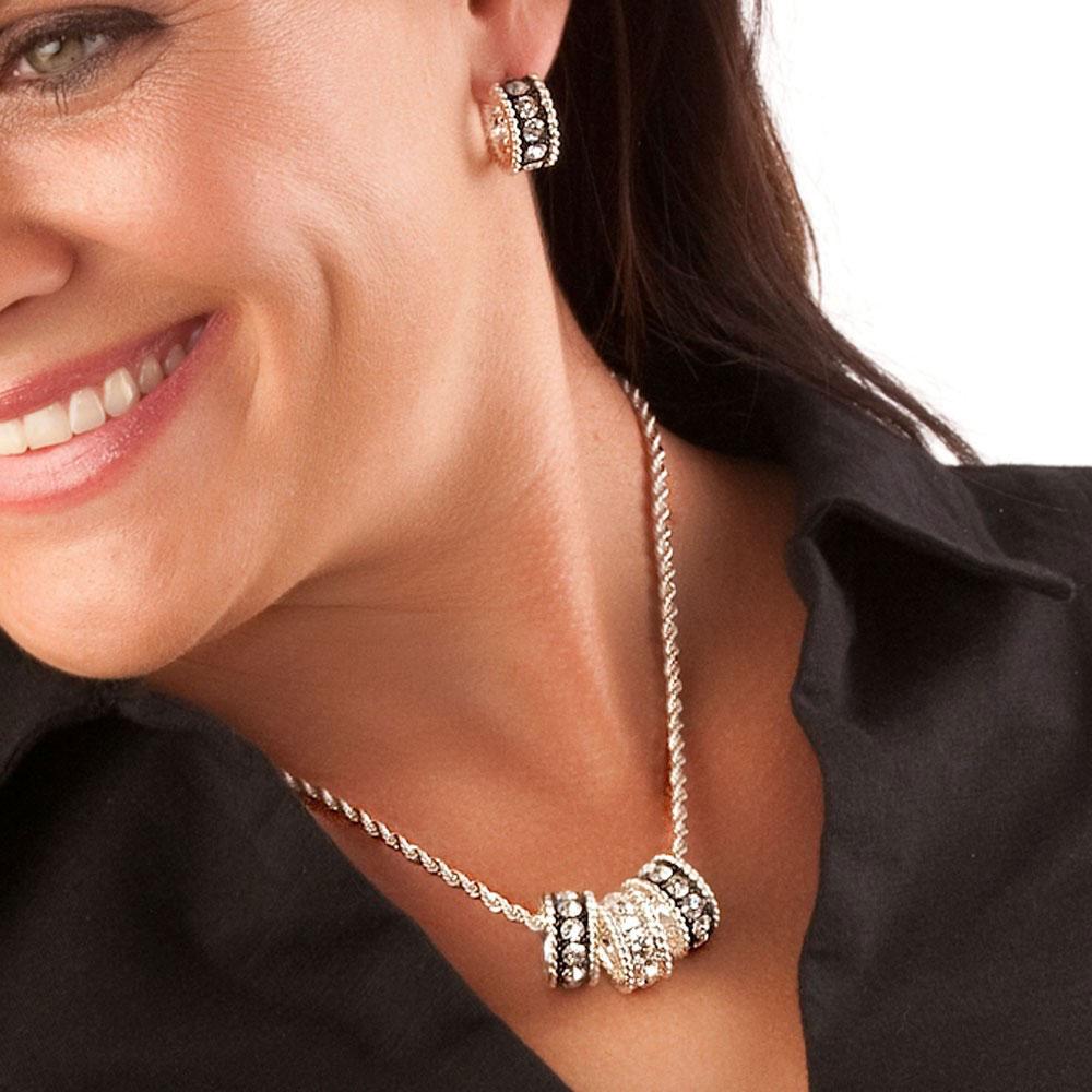 Crystal Shine Small Hoop Earrings