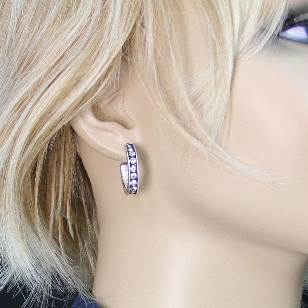 Crystal Shine Cuff Earrings