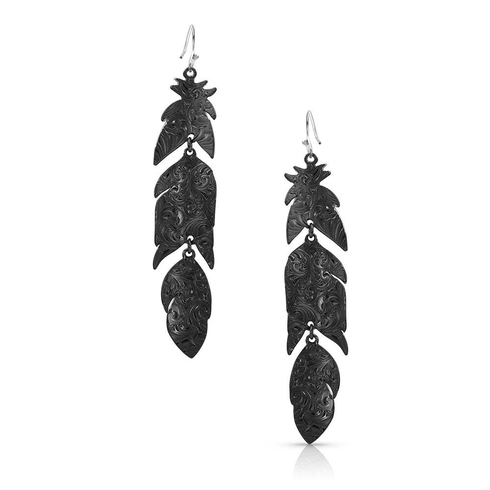 Nighthawk Feather Earrings