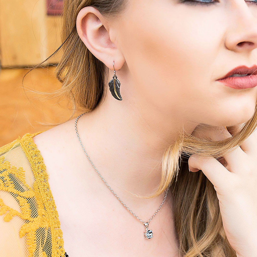 Montana Gold Feather Tip Earrings