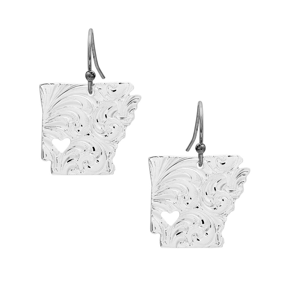 I Heart Arkansas State Charm Earrings