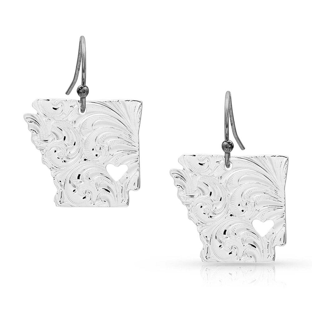 I Heart Arkansas State Charm Earrings