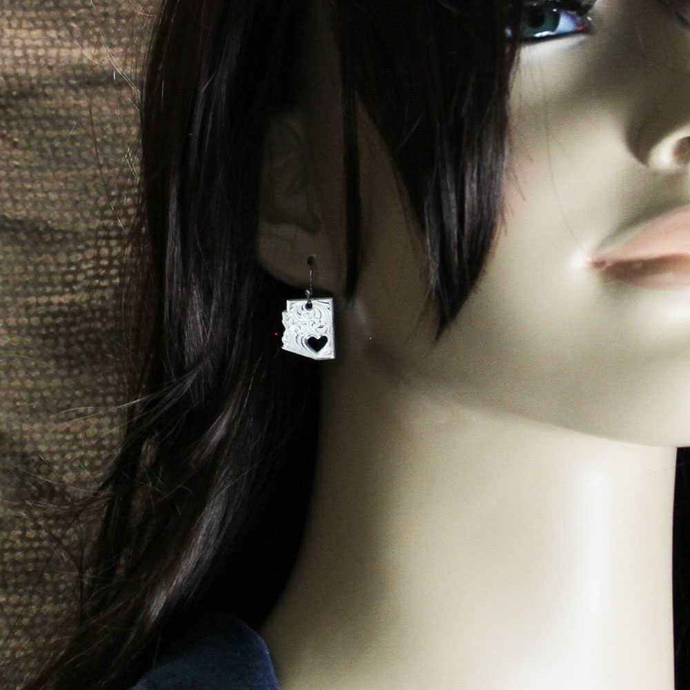 I Heart Arizona State Charm Earrings