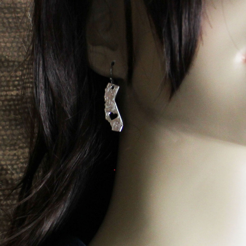 I Heart California State Charm Earrings