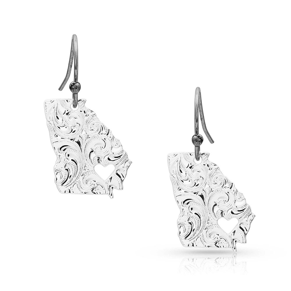 I Heart Georgia State Charm Earrings