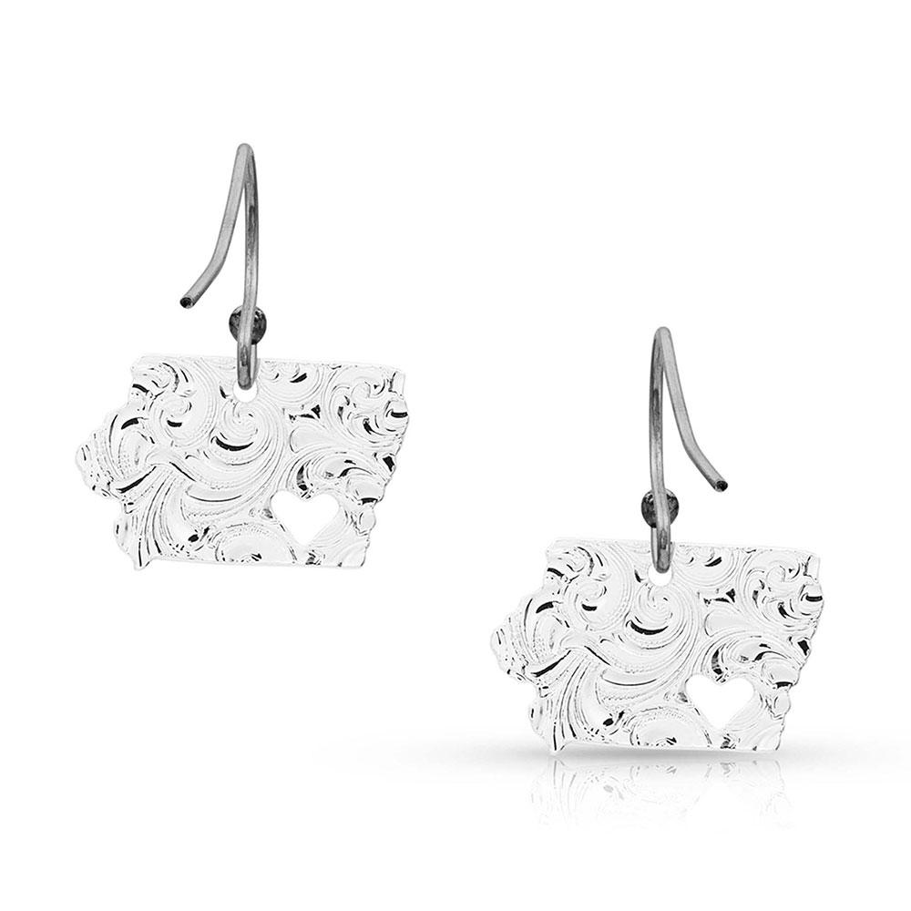 I Heart Iowa State Charm Earrings