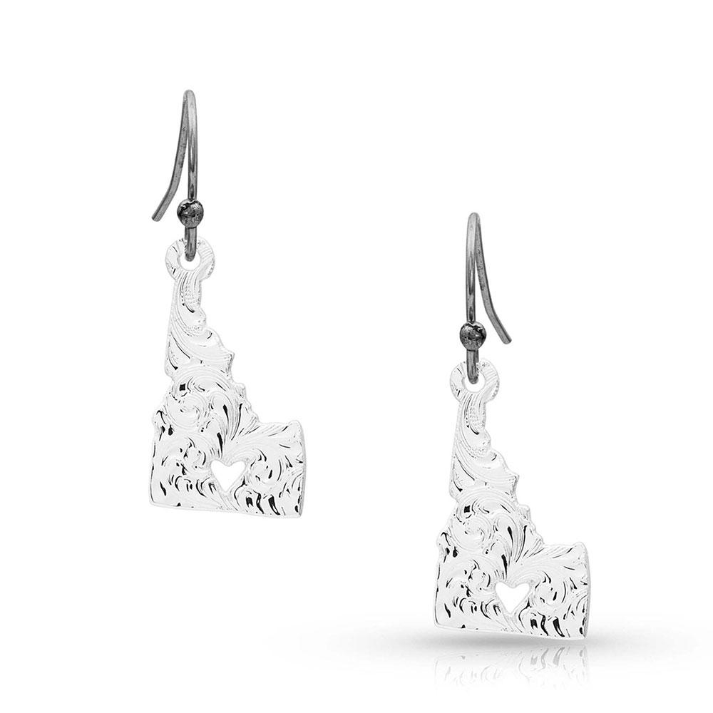I Heart Idaho State Charm Earrings