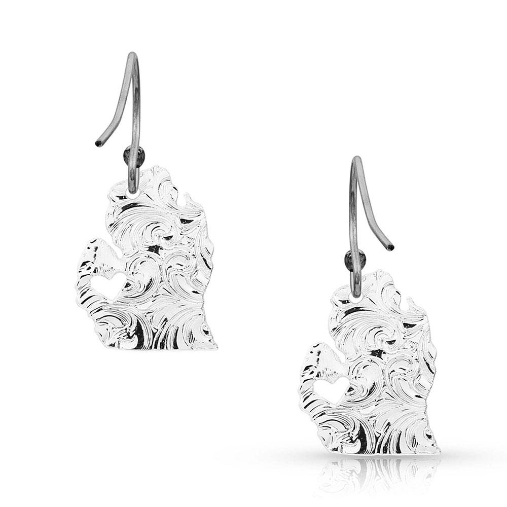 I Heart Michigan State Charm Earrings