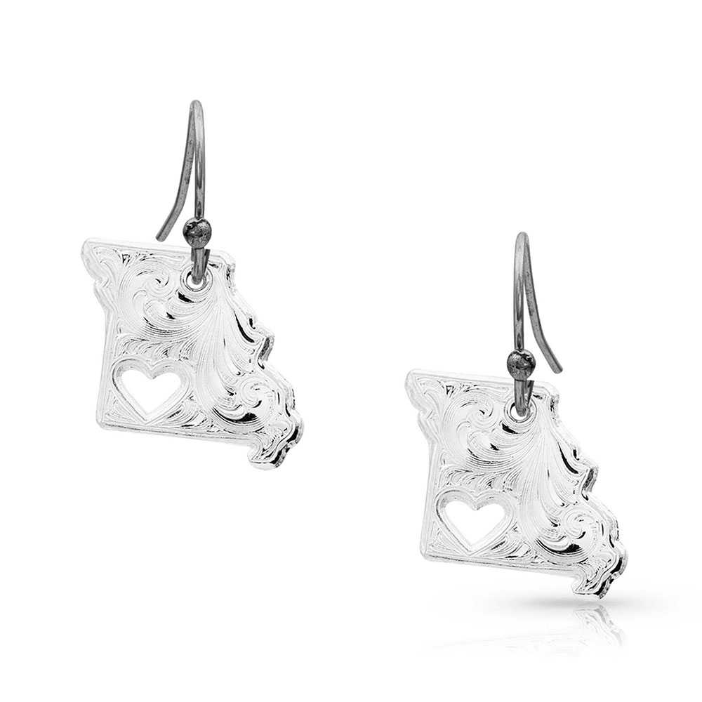 I Heart Missouri State Charm Earrings