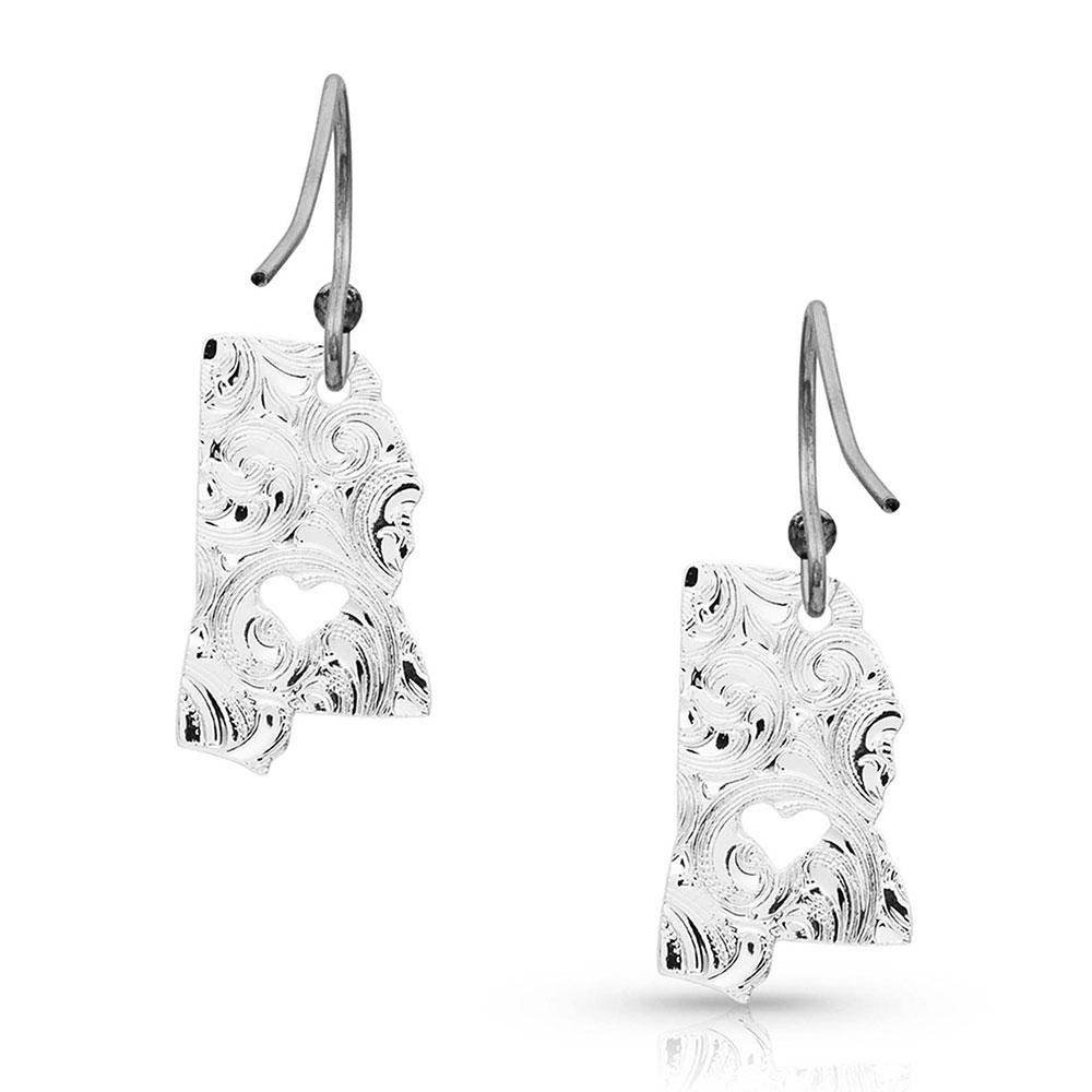 I Heart Mississippi State Charm Earrings