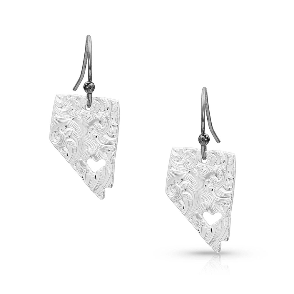 I Heart Nevada State Charm Earrings