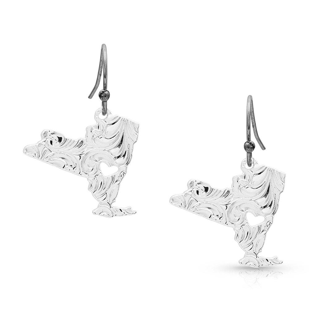 I Heart New York State Charm Earrings