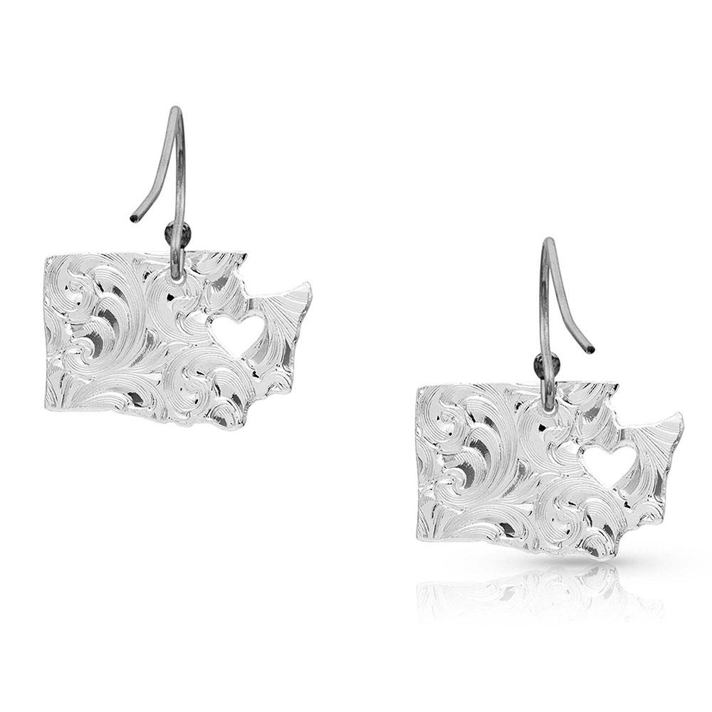 I Heart Washington State Charm Earrings