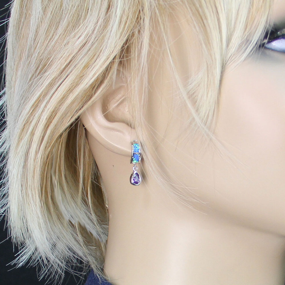 River Lights Purple Tears Earrings