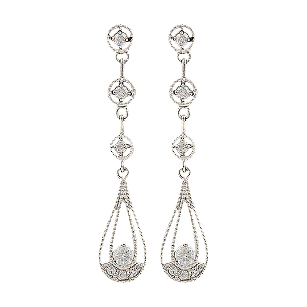Star Lights Three Tiered Raindrop Earrings