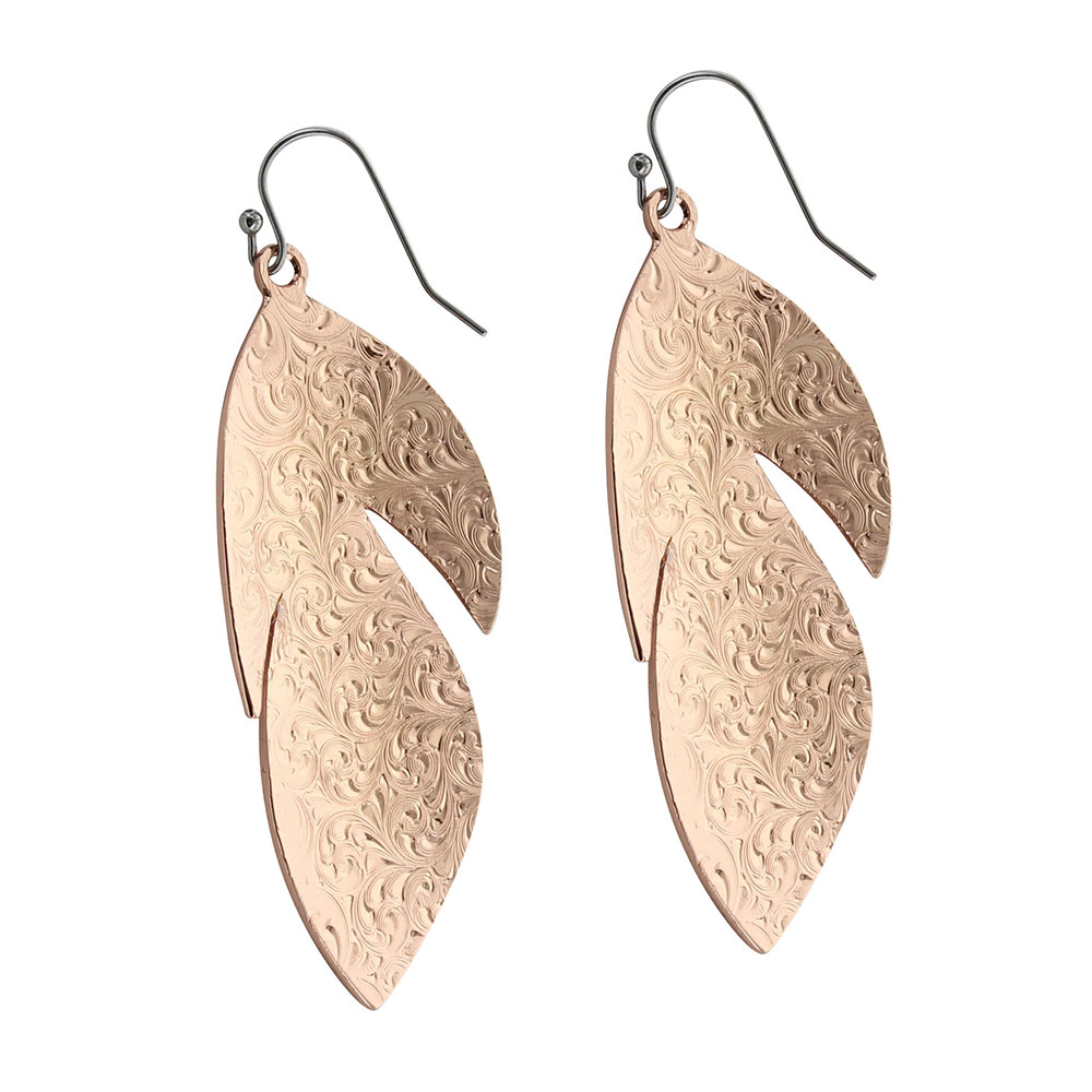 Sunlit Floating Feather Earrings
