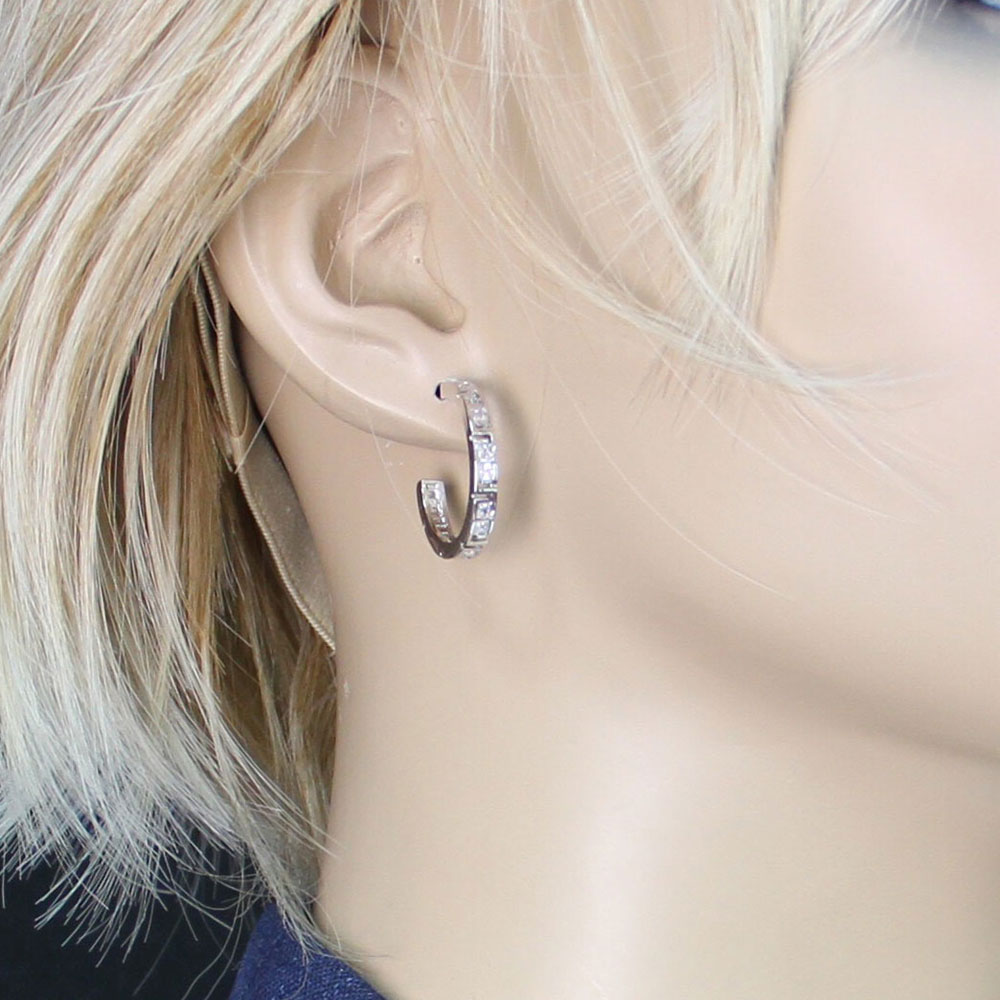 Dainty Aztec and Rhinestone Earrings