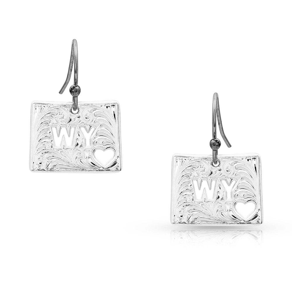I Heart Wyoming State Charm Earrings