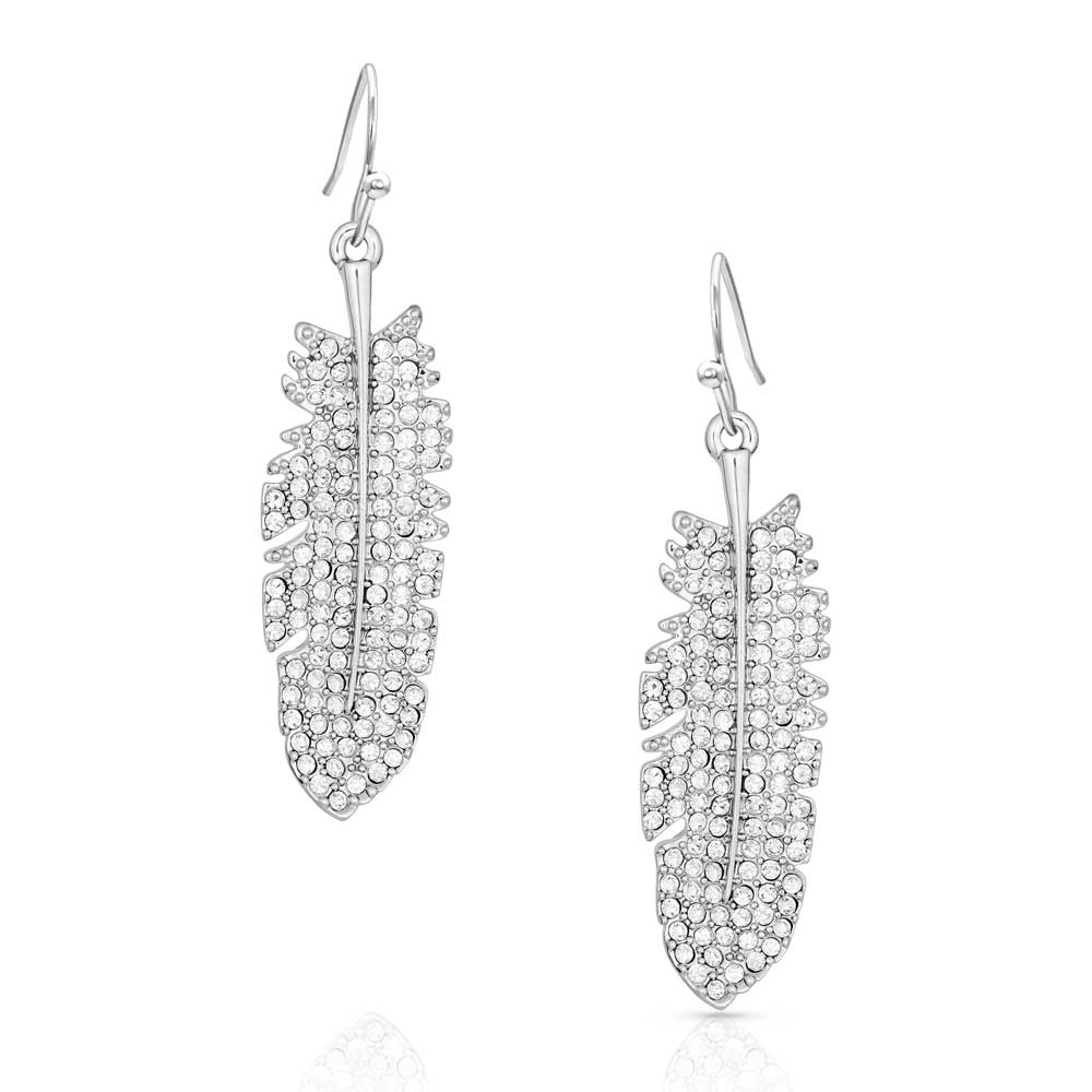 Shimmering Feather Earrings