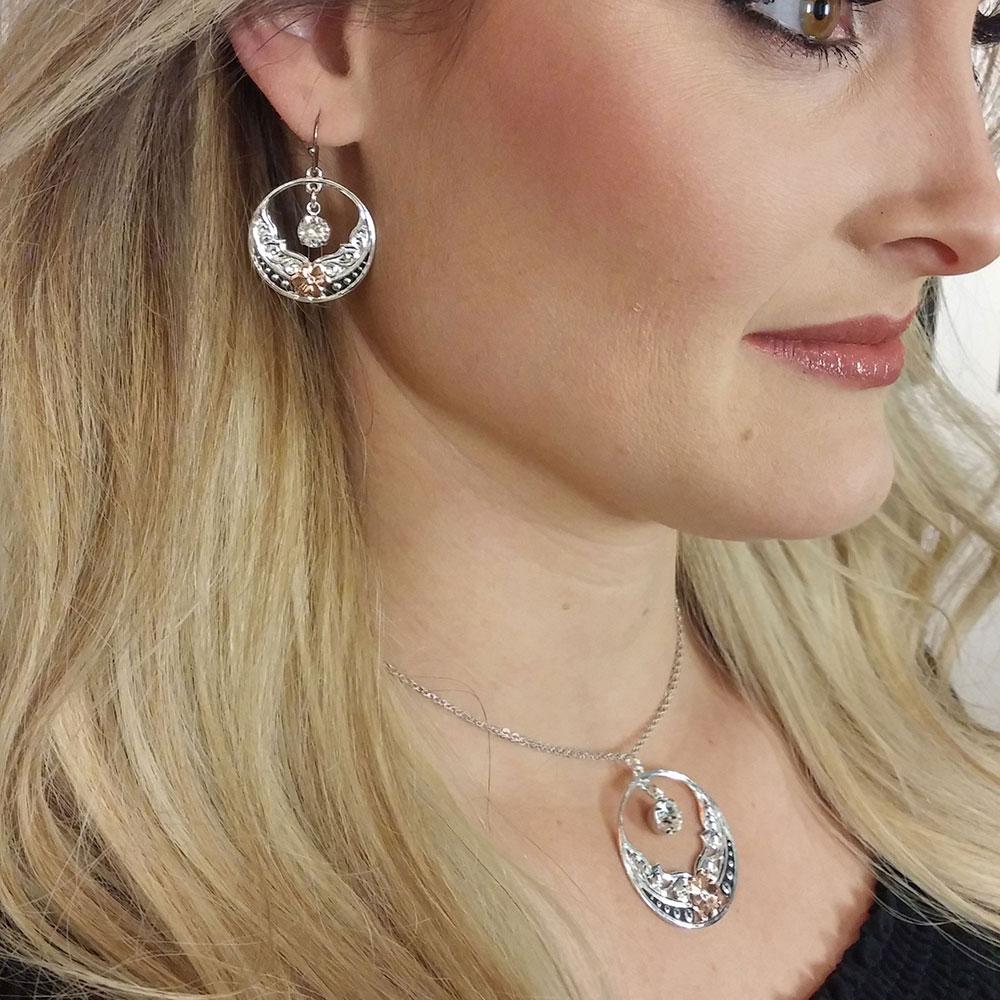 Evening Star's Wild Rose Earrings