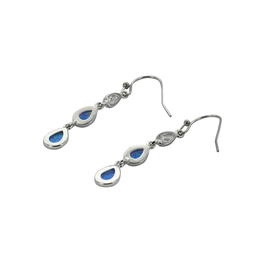 River of Lights Falling into Water Earrings
