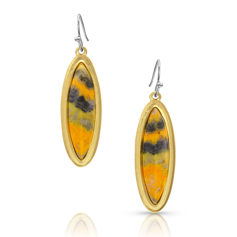 A Bit of Gold Bumblebee Jasper Earrings